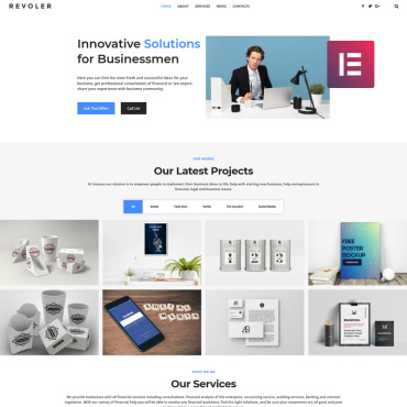 WordPress Theme # 78222