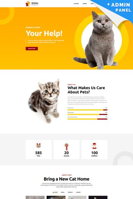 Animal Shelter Landing Page Template