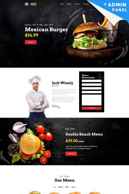 Burger Landing Page Template