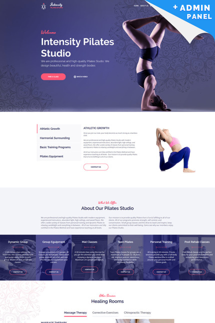 Pilates Studio Landing Page Template
