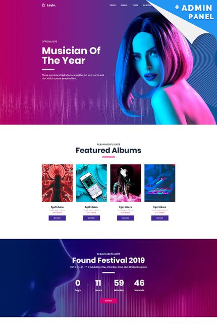 Singer Website Landing Page Template