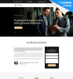 Legal Services Landing Page Template