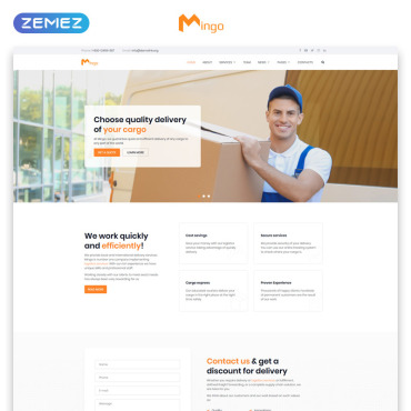 Website Template # 80995