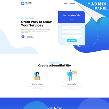 Landing Page Template # 81689