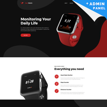 Landing Page Template # 82058
