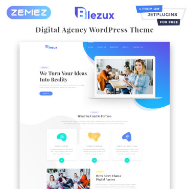 WordPress Theme # 82198