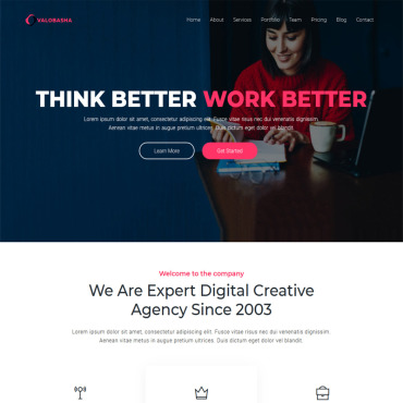 Landing Page Template # 83593