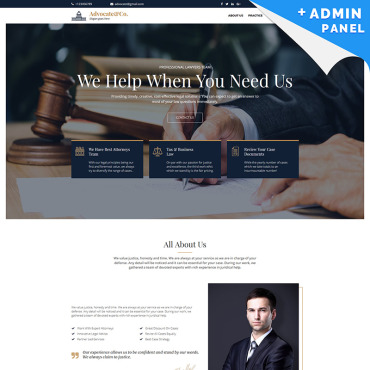 Landing Page Template # 83629