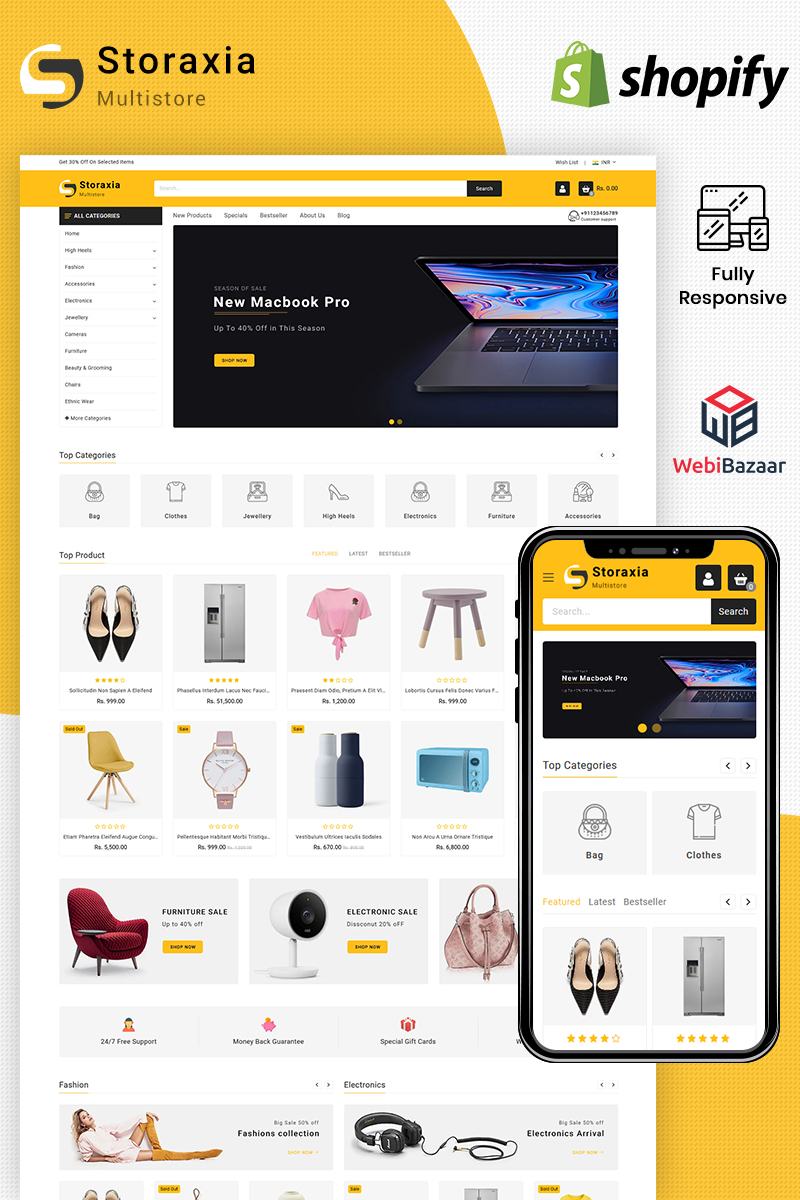 Storaxia - Multipurpose Shopify Theme