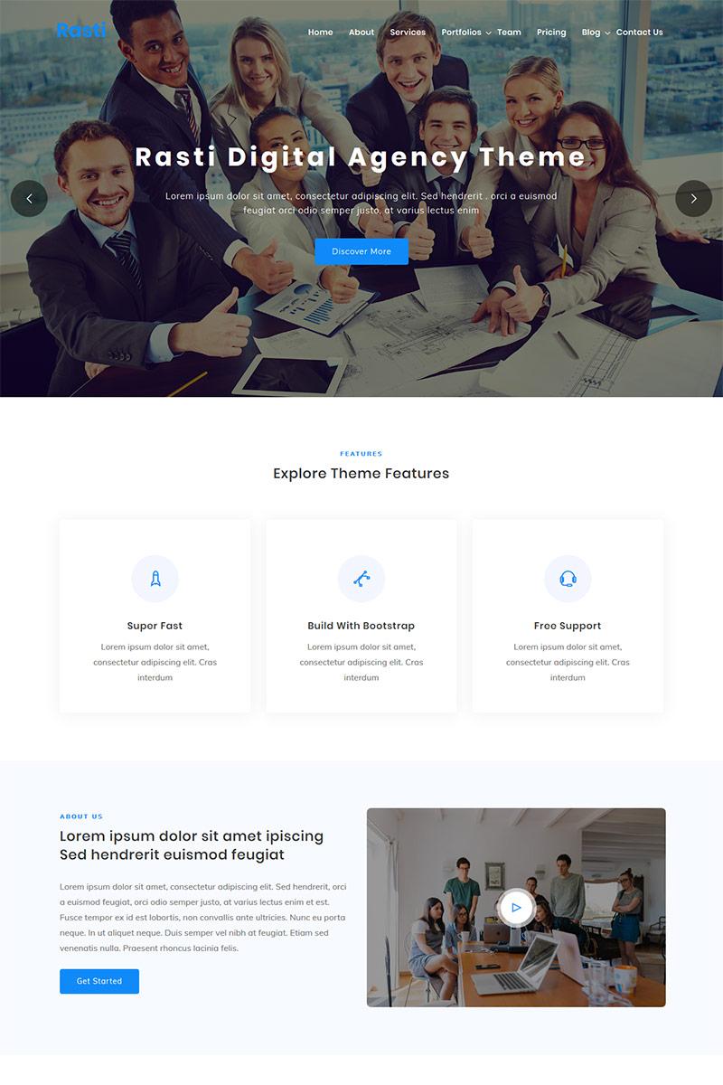 Rasti - Digital Agency One page WordPress Theme