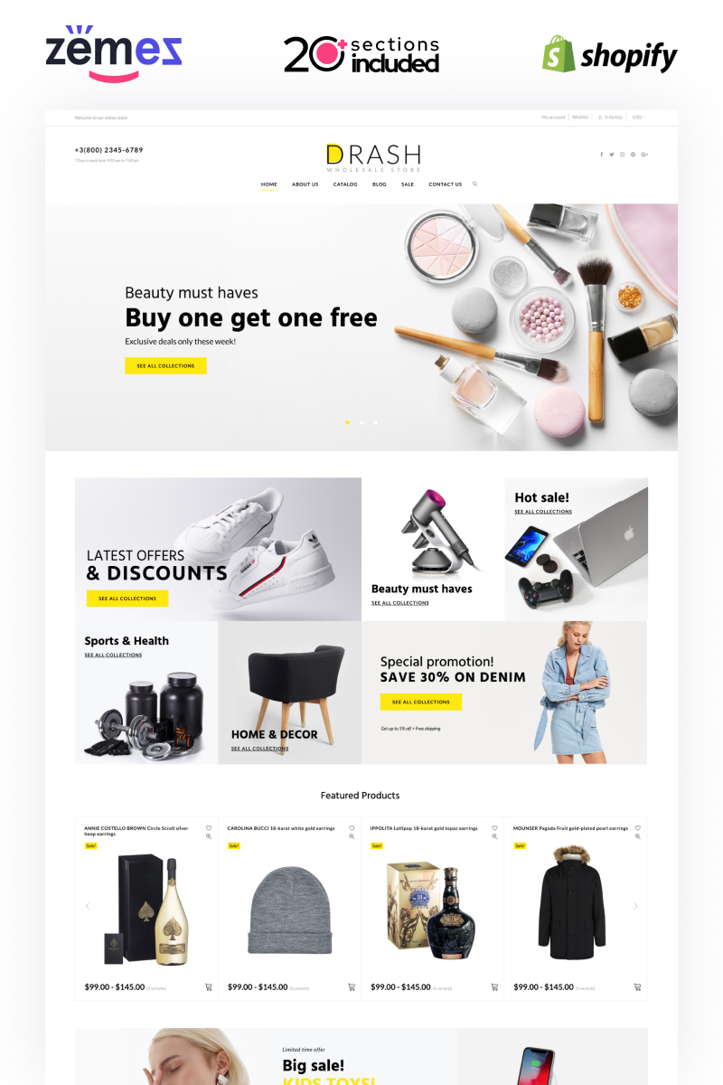 Drash - Shopify Wholesale eCommerce Template Shopify Theme