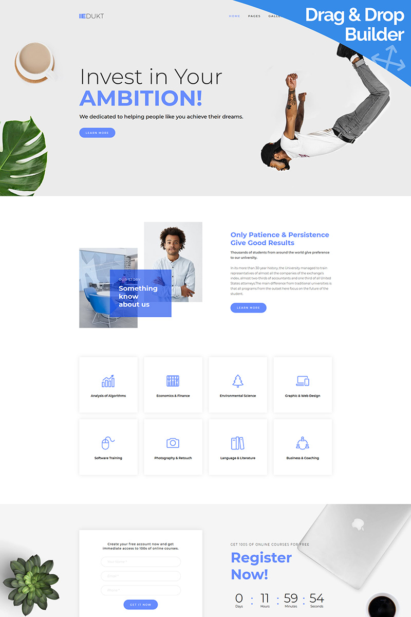 Edukt - Education Moto CMS 3 Template