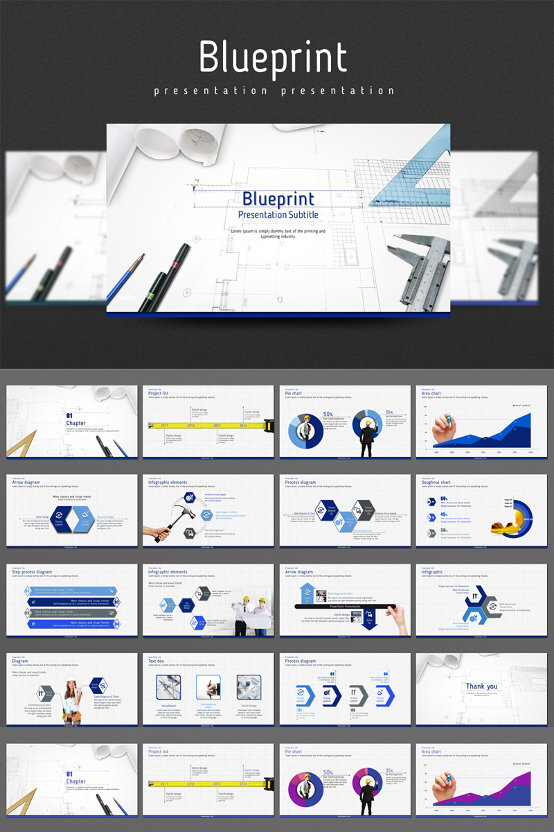Blueprint PowerPoint Template