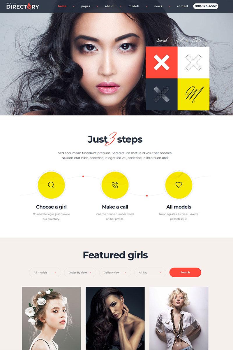 Beauty Models Directory WordPress Theme