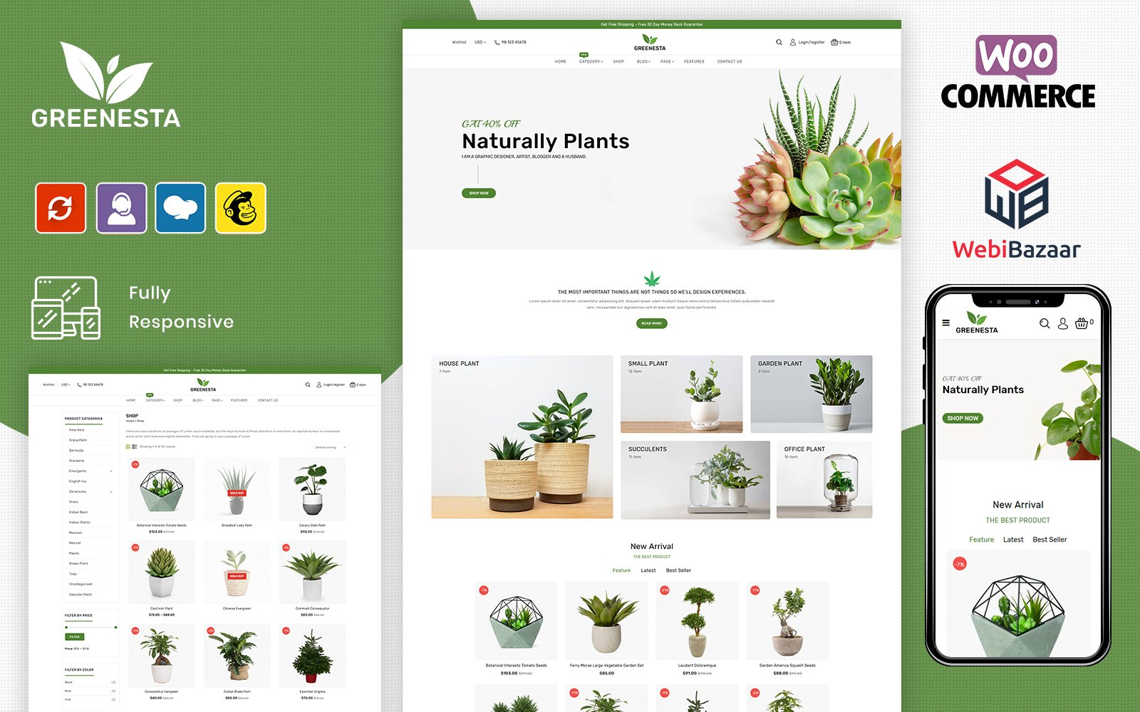 Greenesta Organic - Food & Grocery Store WooCommerce Theme