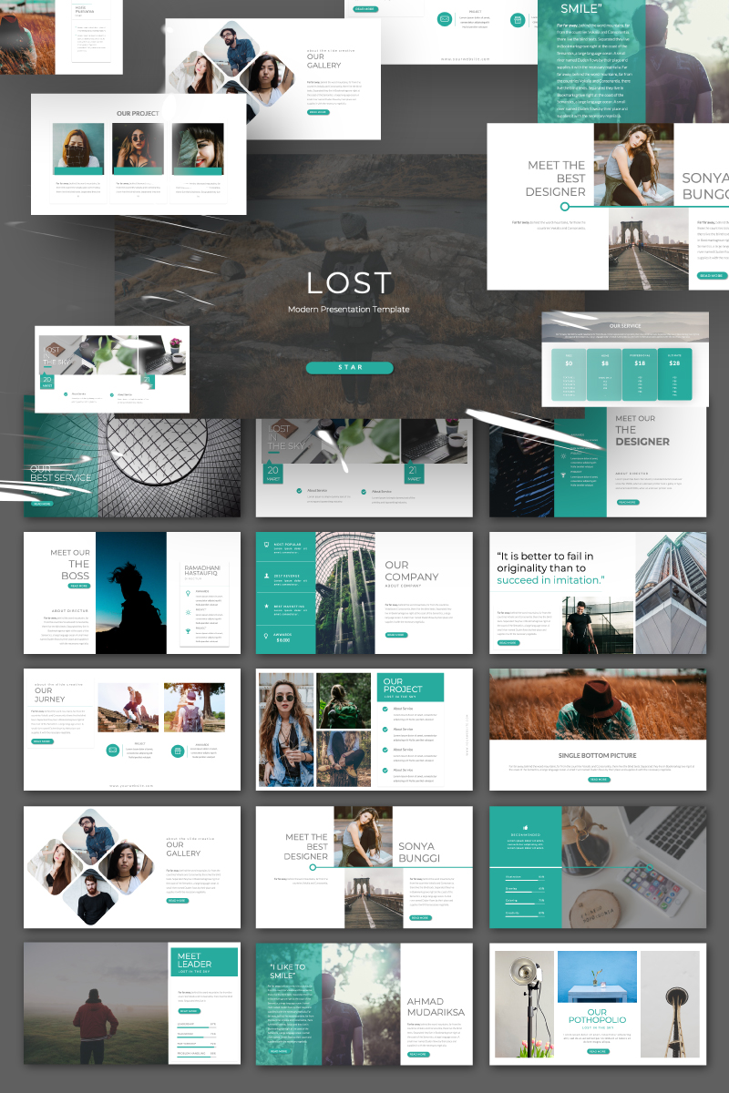 a Lost Presentation PowerPoint Template