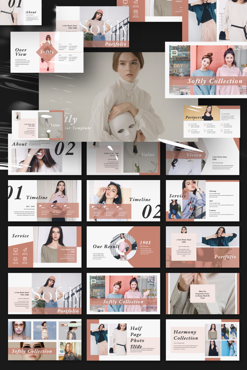 Softly Presentation PowerPoint Template