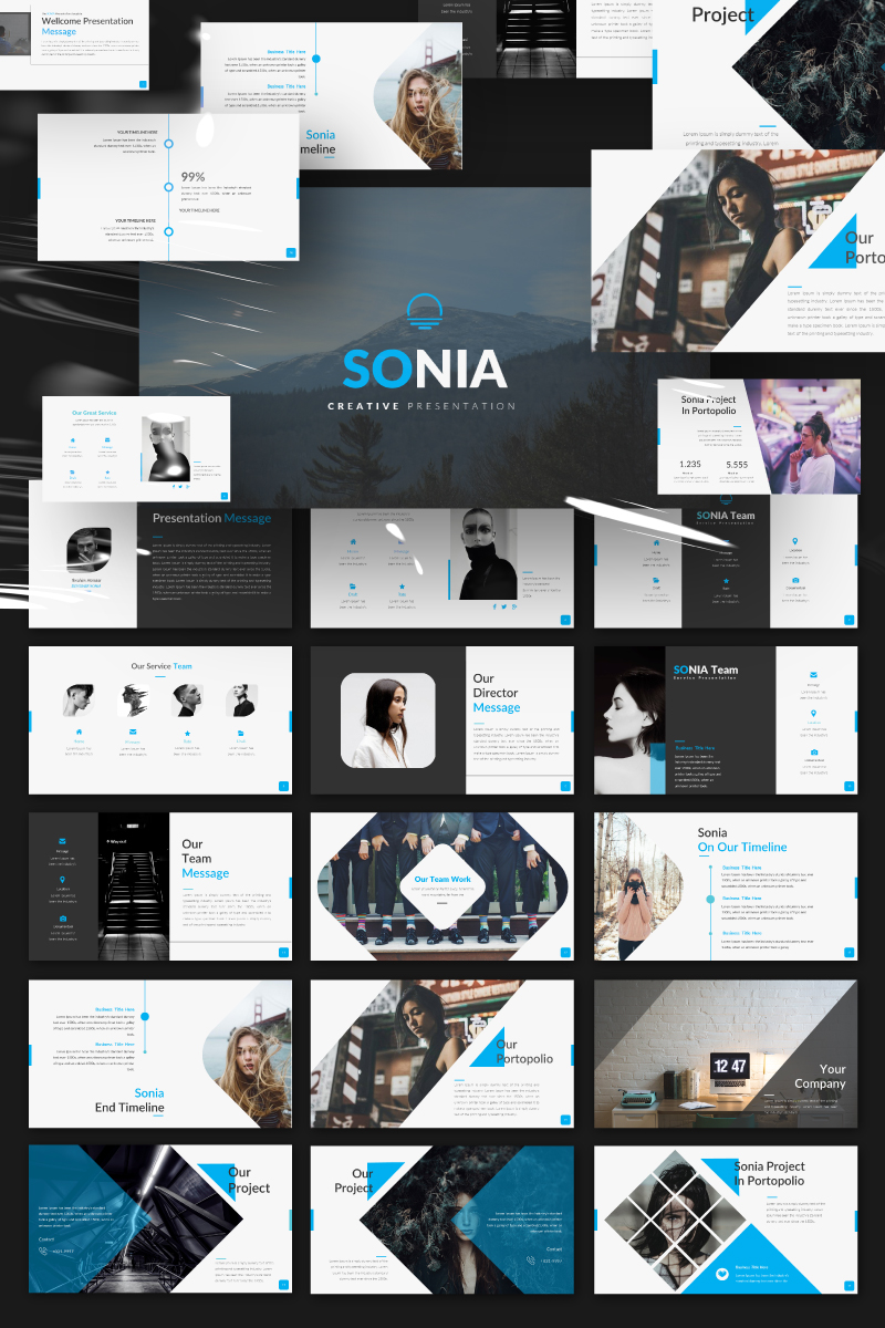 SONIA Presentation PowerPoint Template