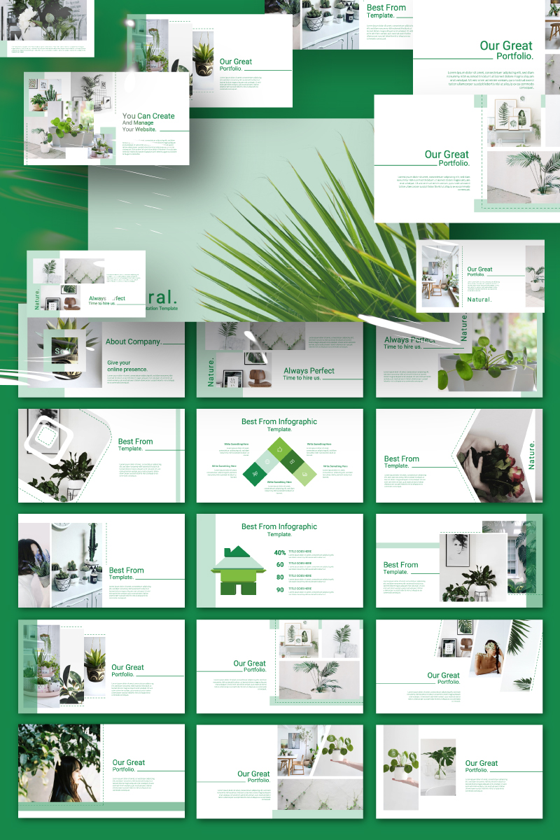 NATURAL Presentation PowerPoint Template
