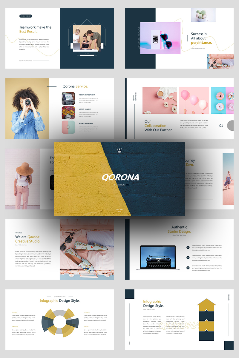 Qorona Creative Business PowerPoint Template