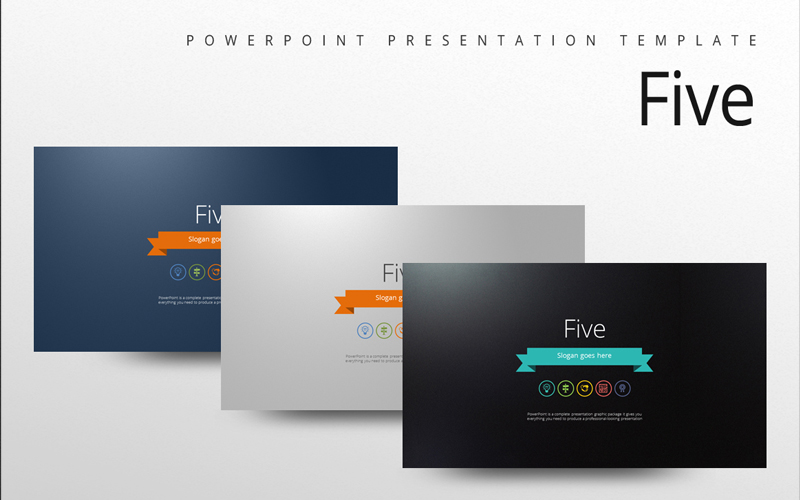 Five PowerPoint Template