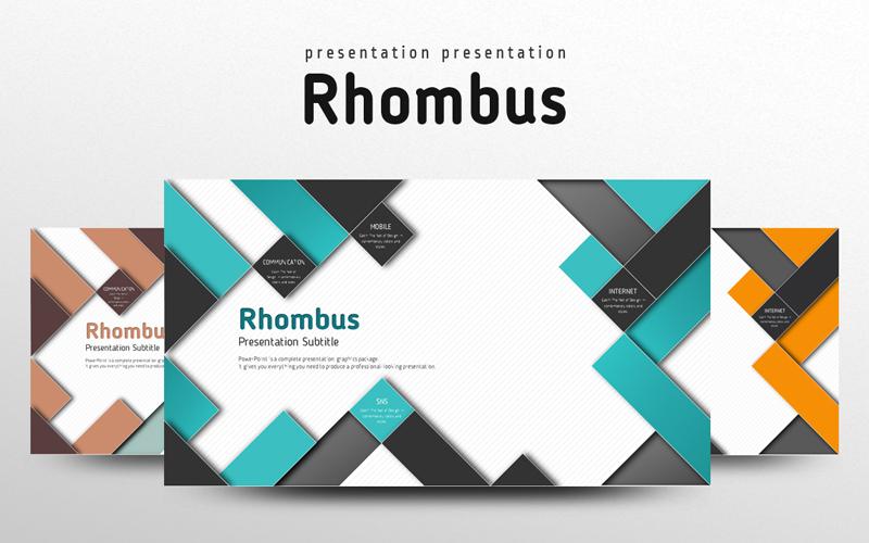 Rhombus PowerPoint Template