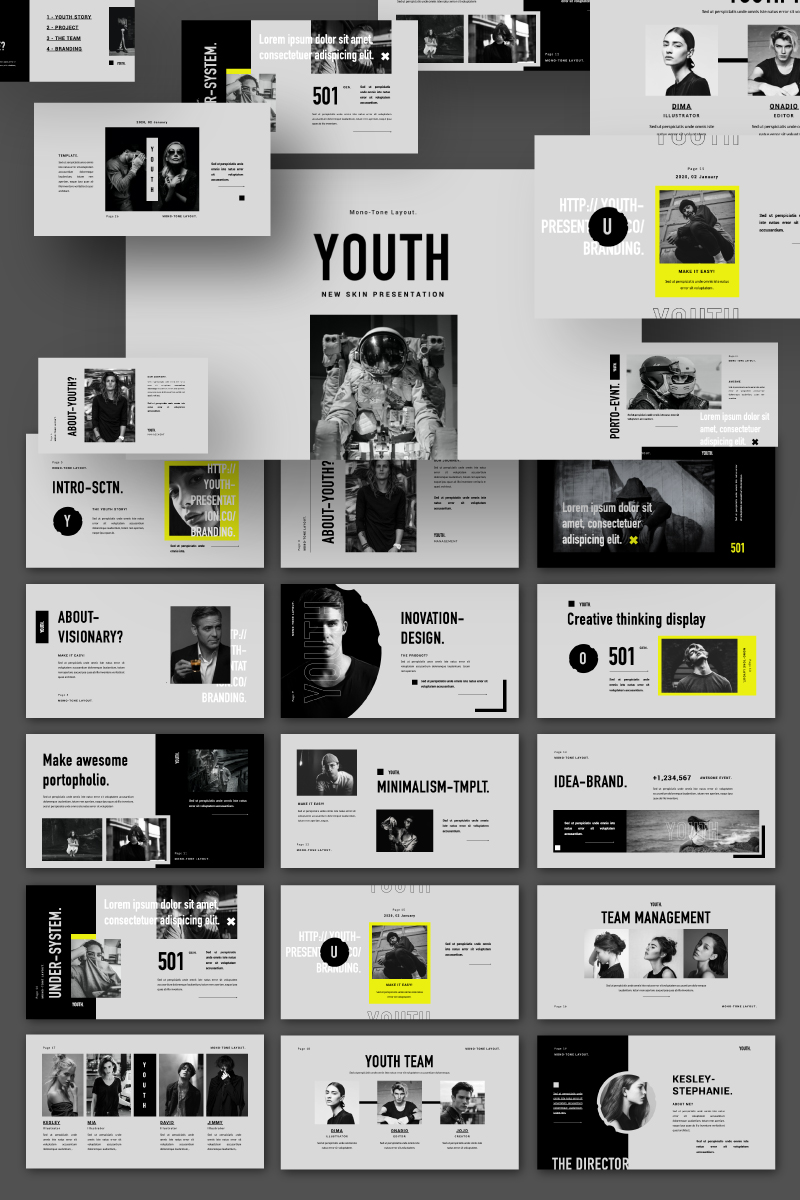 YOUTH Presentation PowerPoint Template