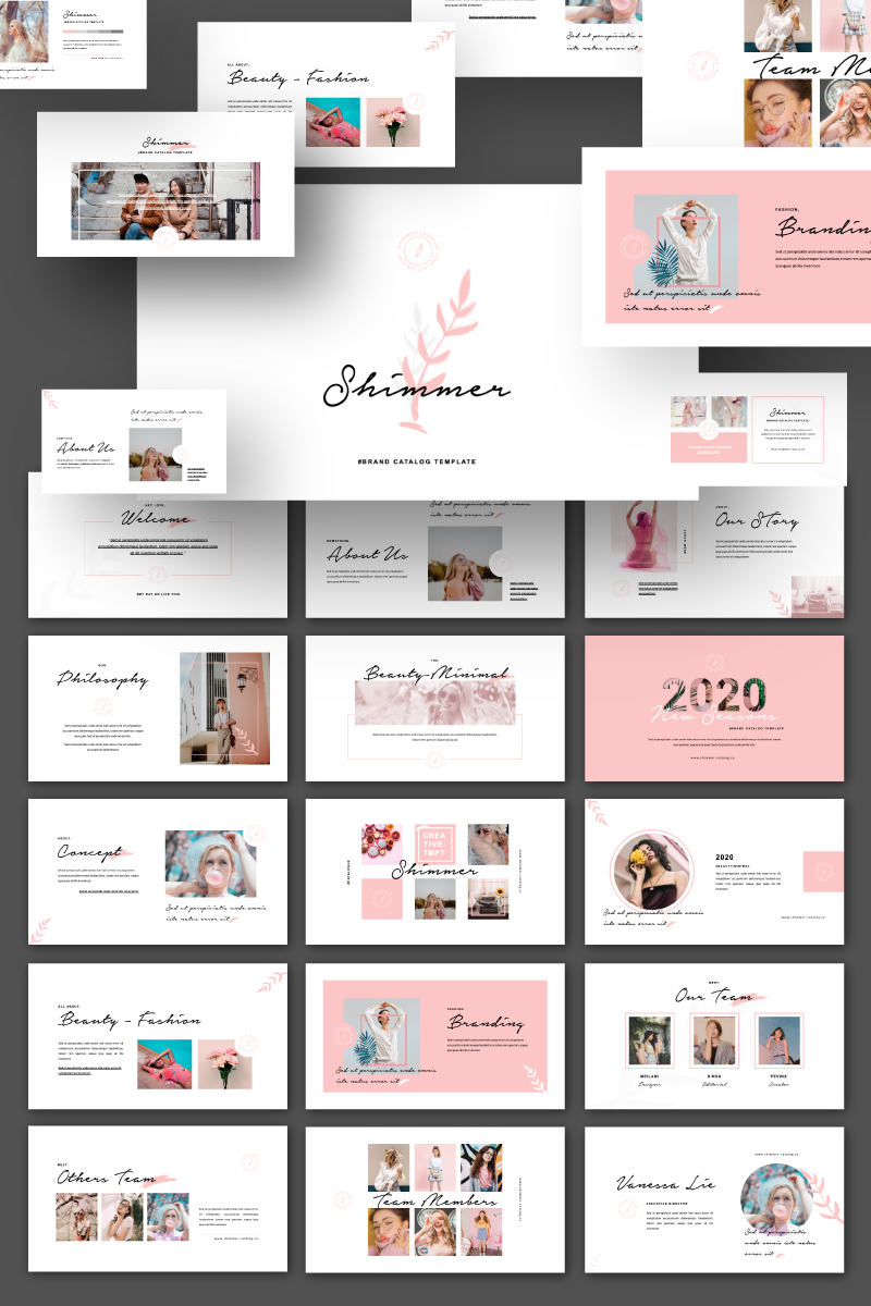 Shimmer Presentation PowerPoint Template