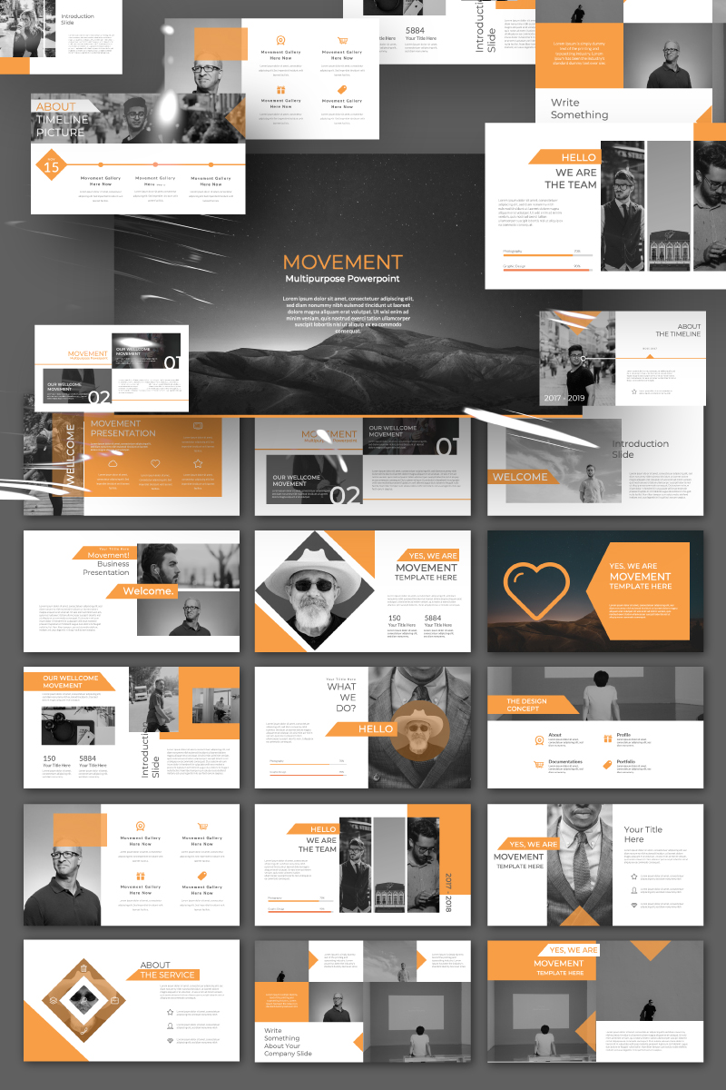 MOVEMENT Presentation PowerPoint Template