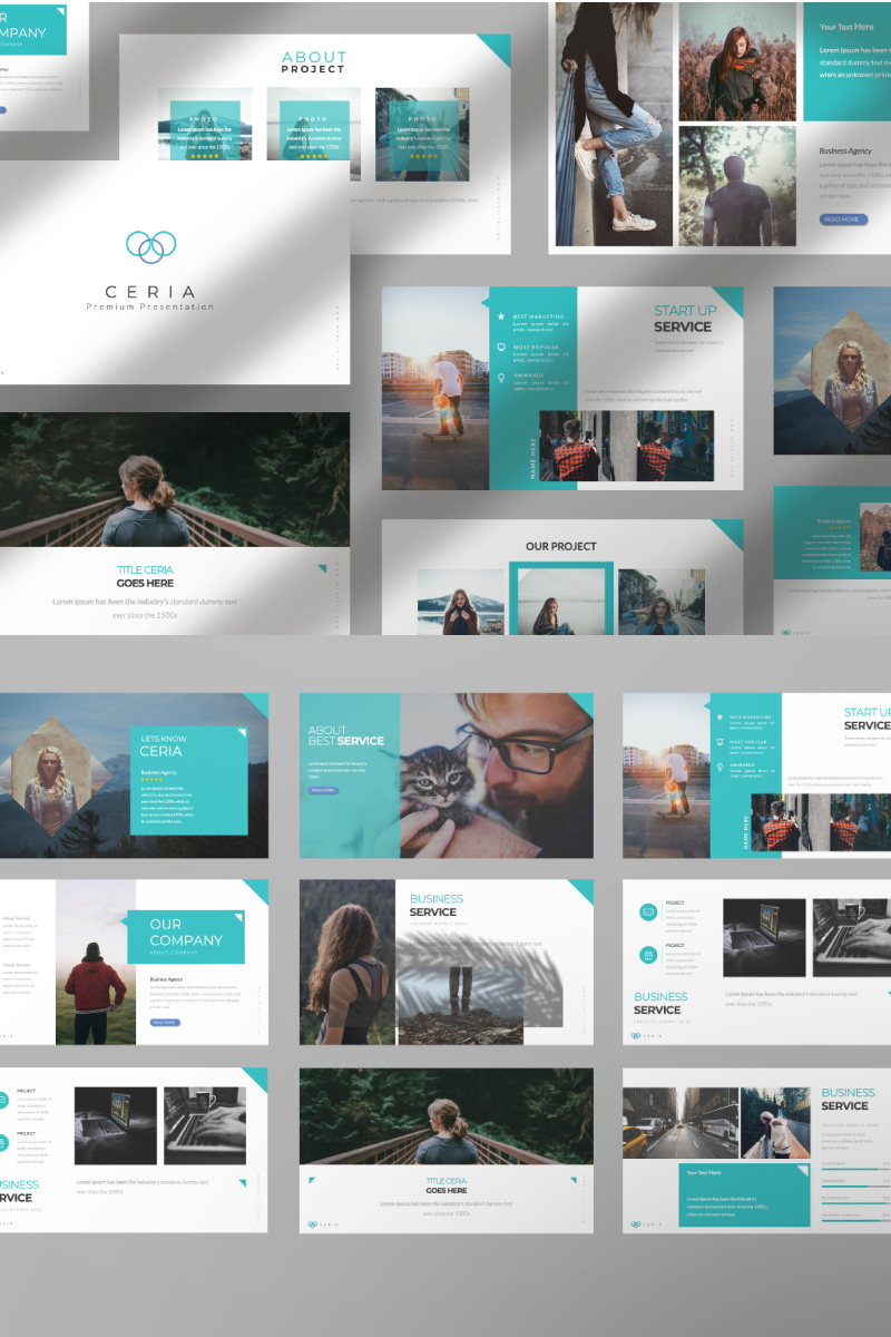 Ceria Creative Presentation PowerPoint Template