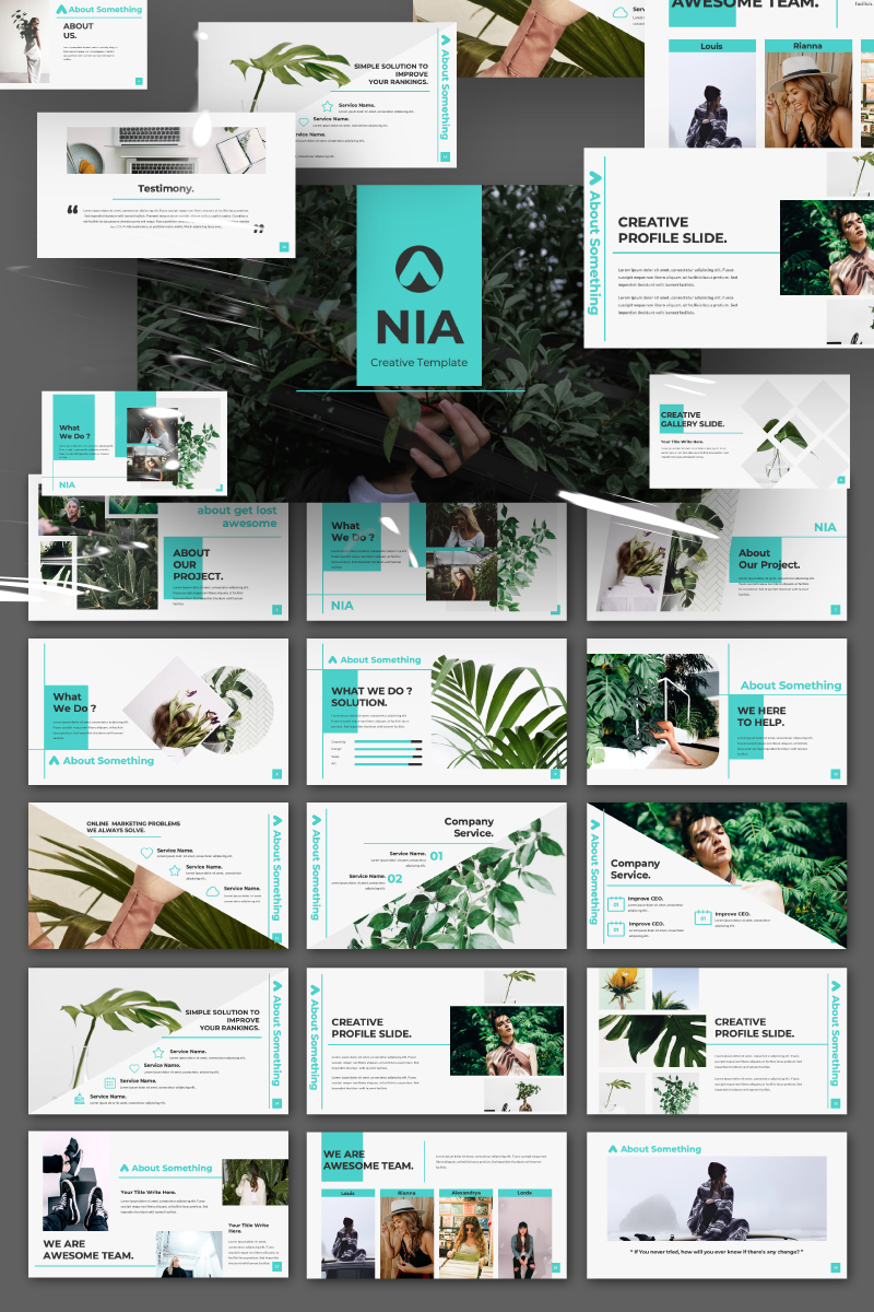 Nia Pitch Deck Presentation PowerPoint Template