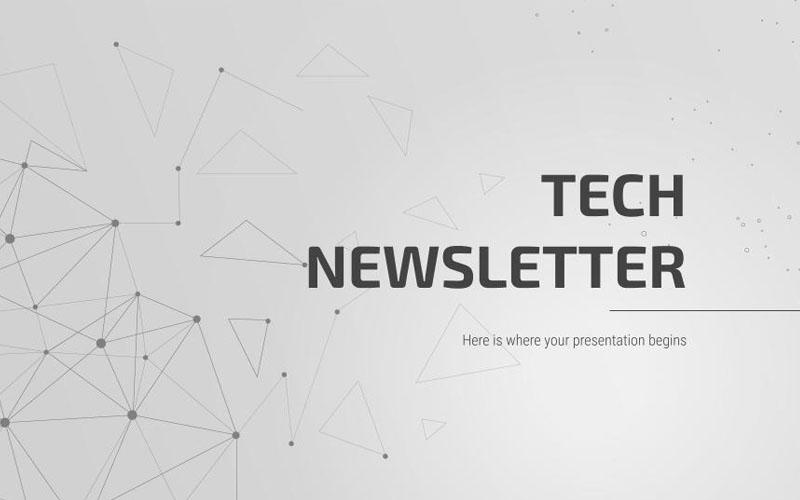 Tech Newsletter PowerPoint template