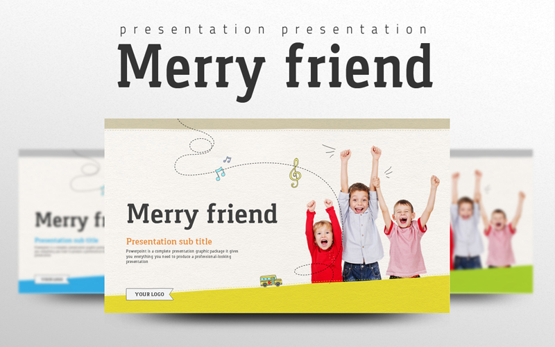 Merry Friend PowerPoint Template