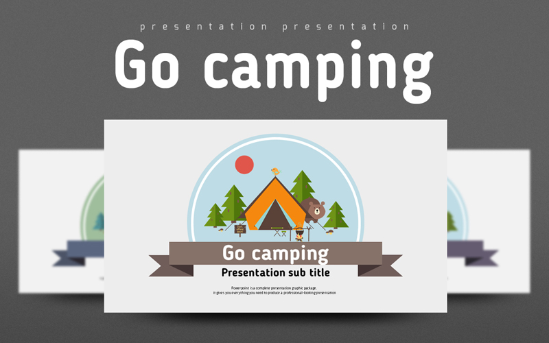 Go Camping PowerPoint Template