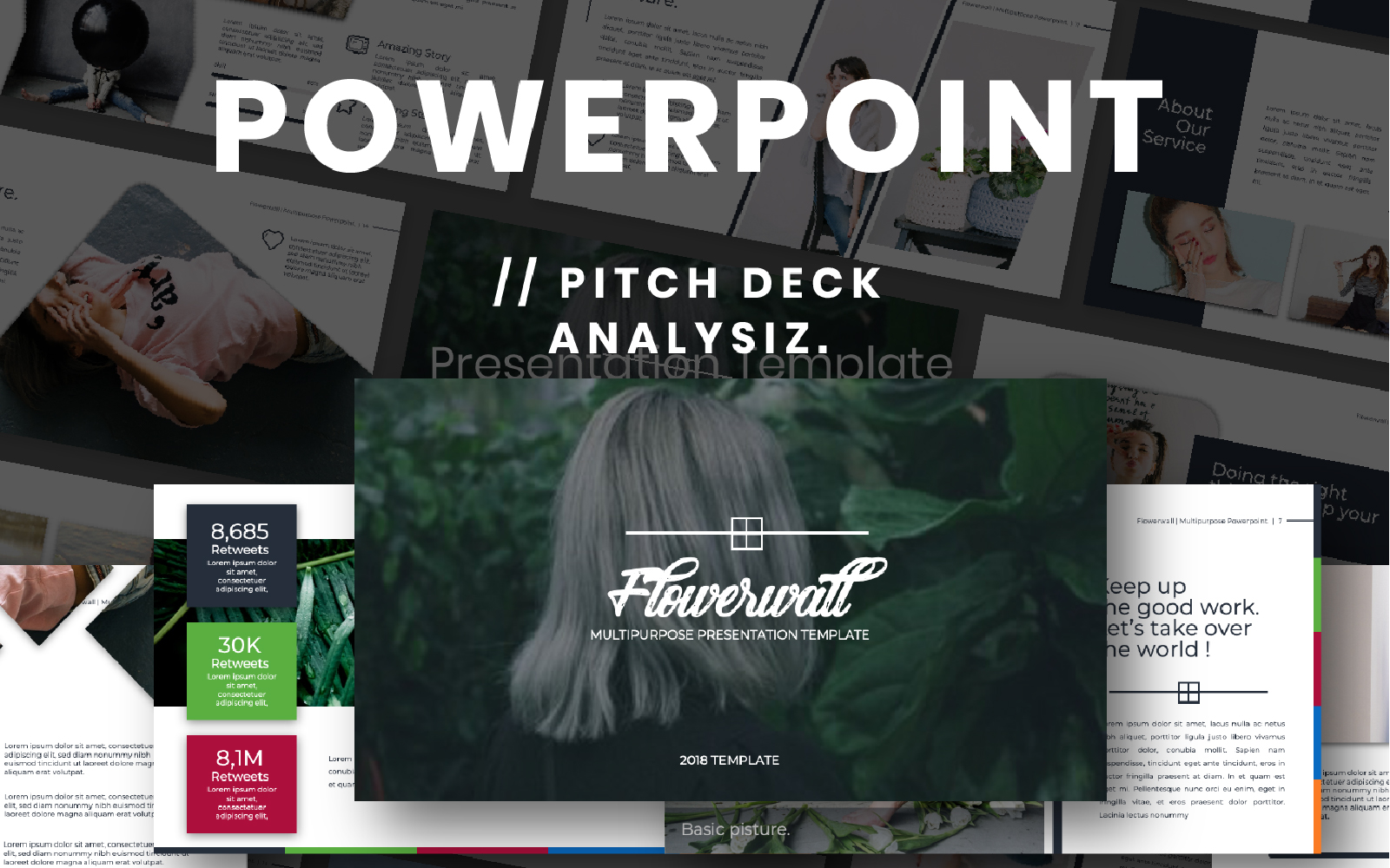 Flowerwall Presentation PowerPoint Template