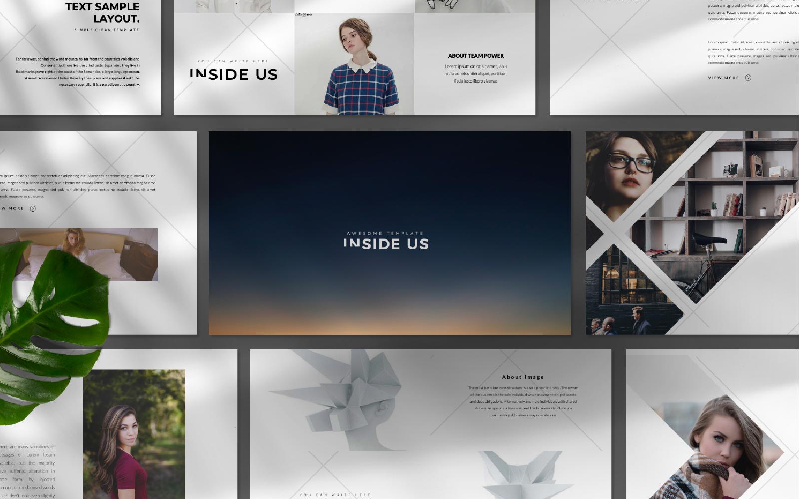 inside us Presentation PowerPoint Template