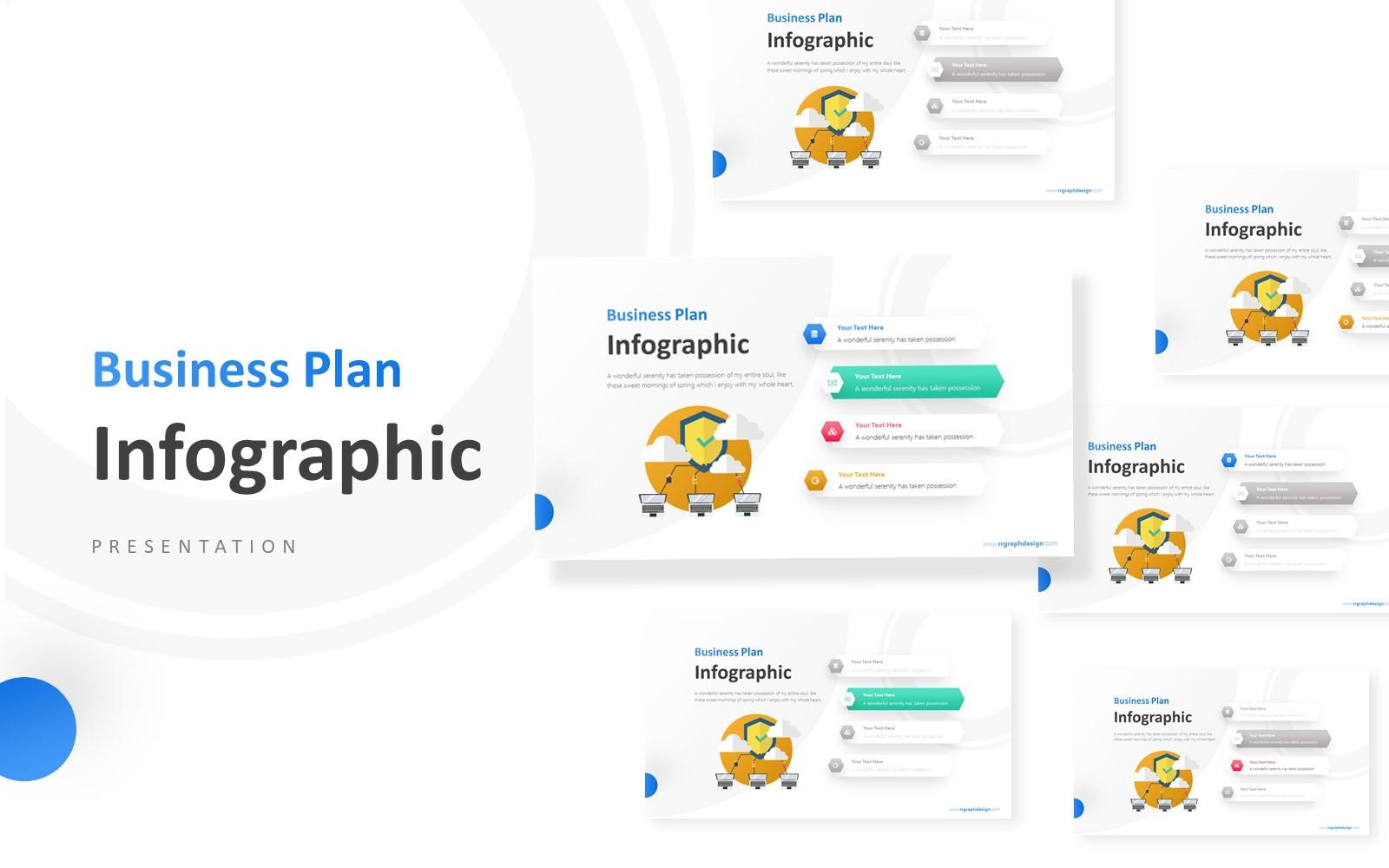 4 Hexagonal Options Infographic Presentation PowerPoint Template
