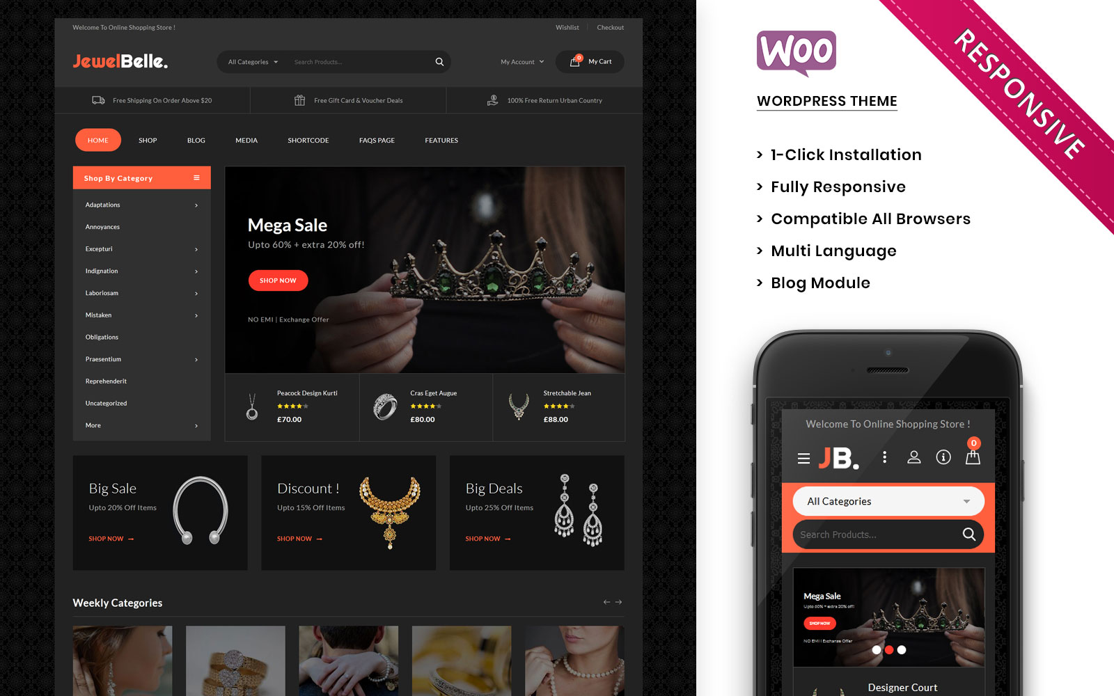 Jewelbelle - The Mega Jewelry Store WooCommerce Theme