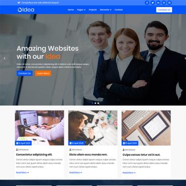 Template Web Design HTML, JS şi CSS #100564