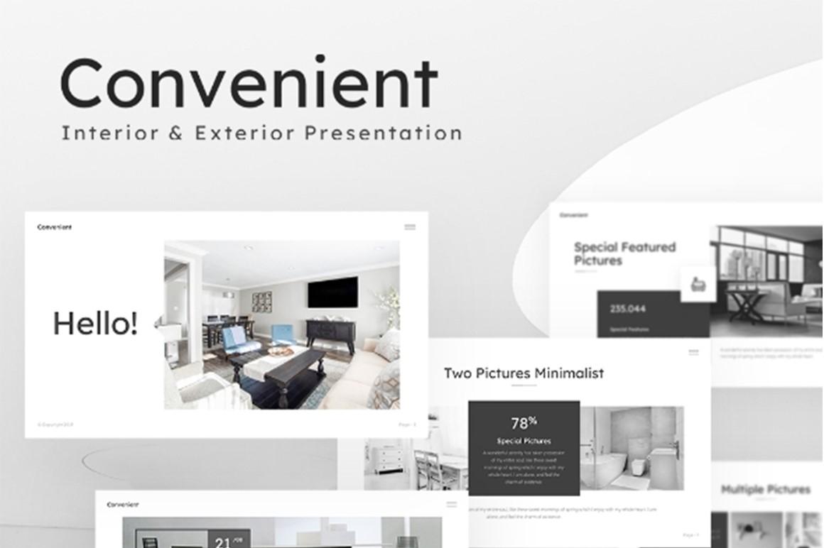 Convenient Interior Exterior Presentation PowerPoint Template