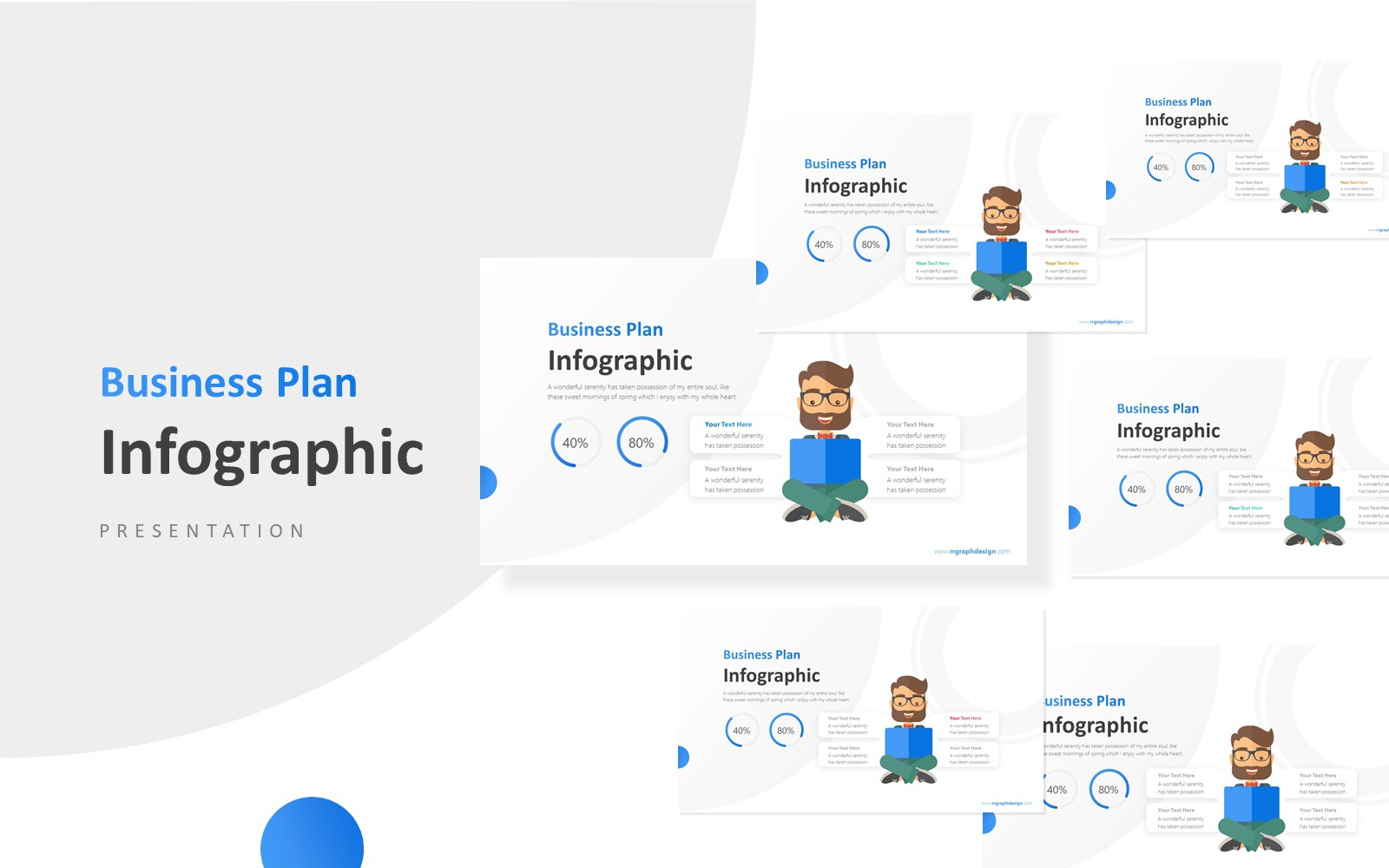 Business Man Infographic Presentation PowerPoint Template