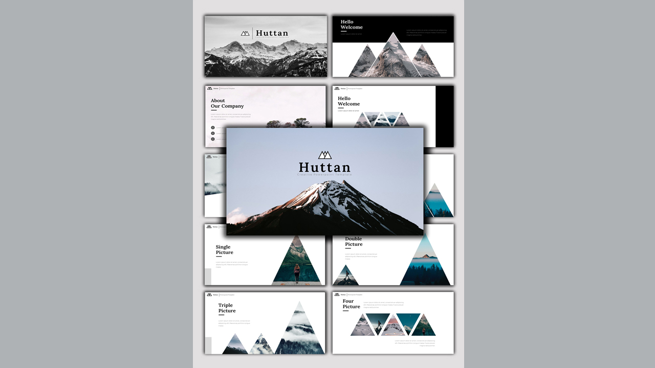 Huttan - Creative Business PowerPoint Template