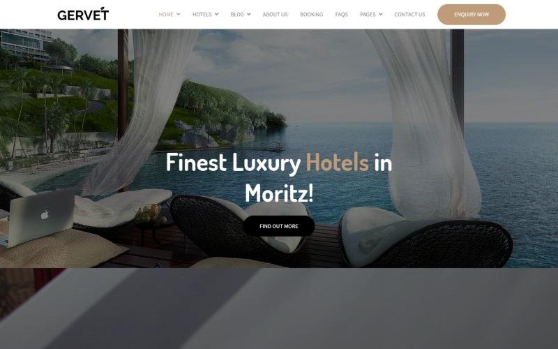 Gervet - Hotel Booking Website Template