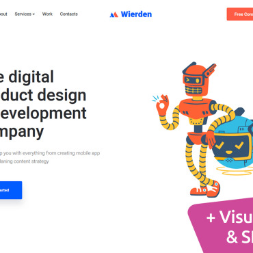 Website Template № 100806