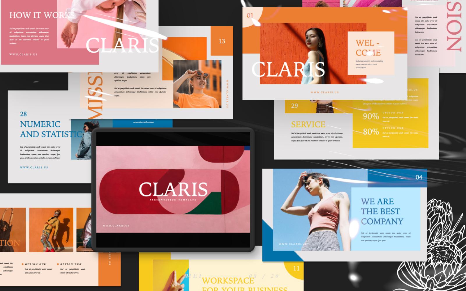 Claris Presentation PowerPoint Template