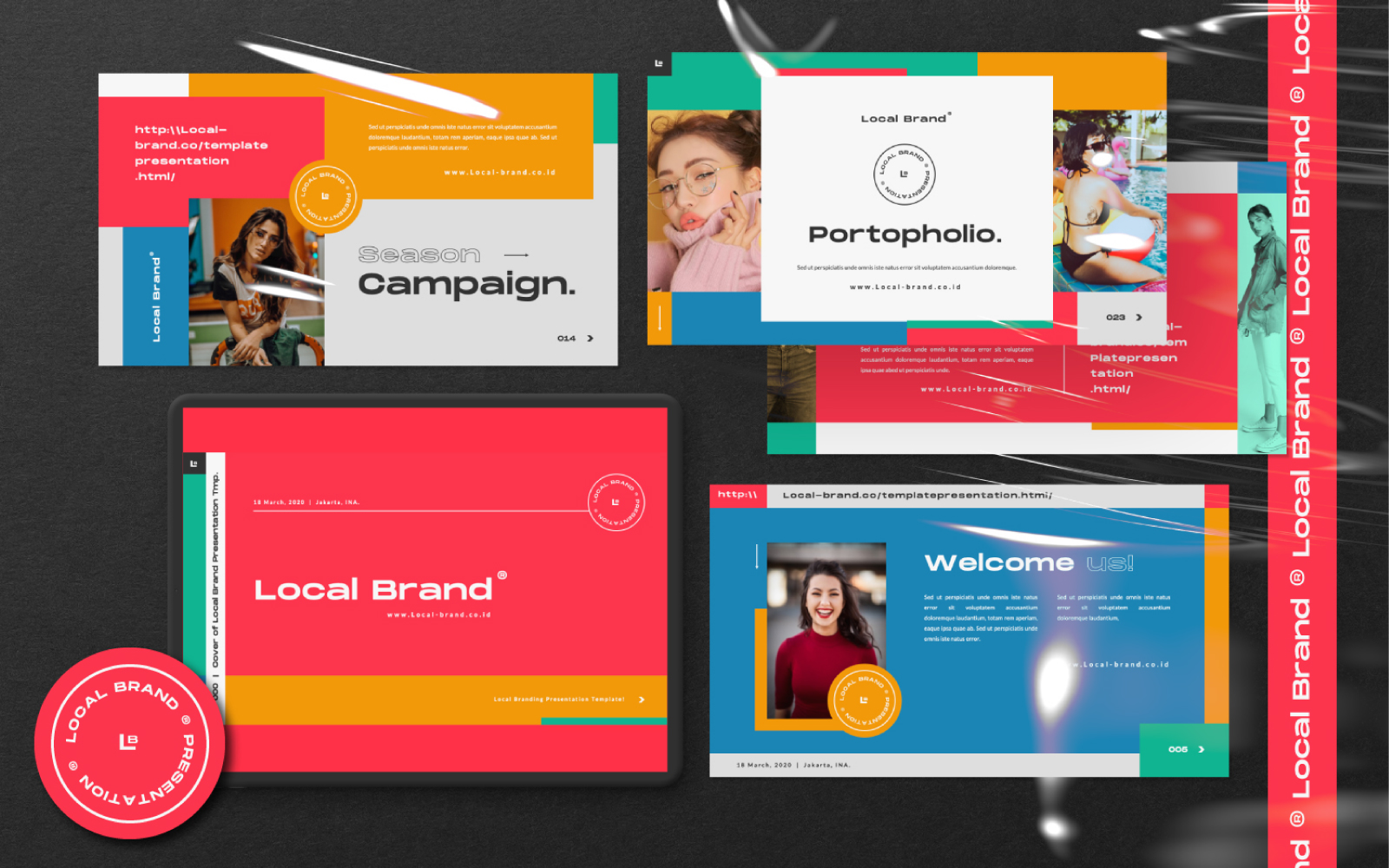 Local Brand Presentation PowerPoint Template