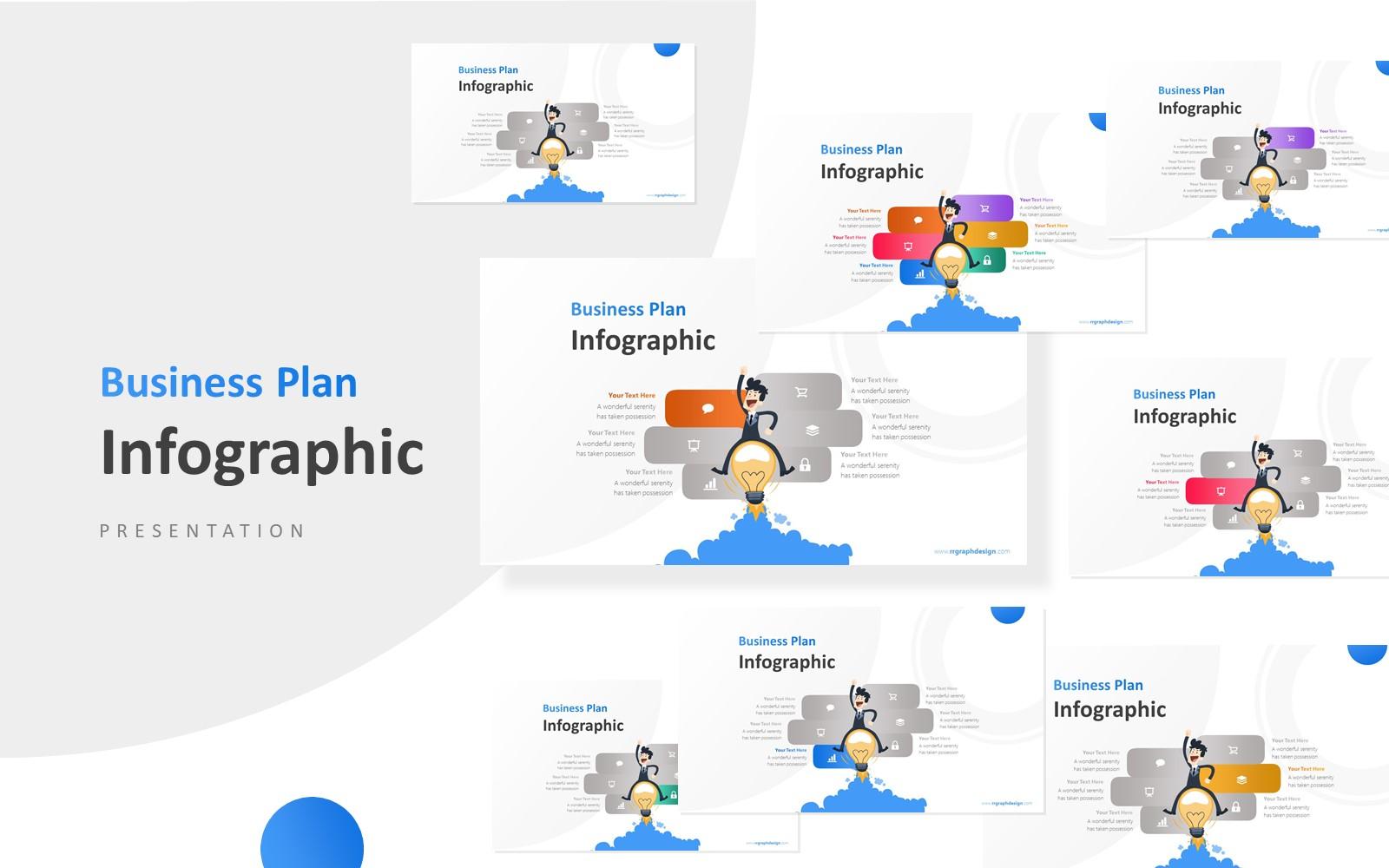 Businessman with an Idea Vector Presentation PowerPoint Template