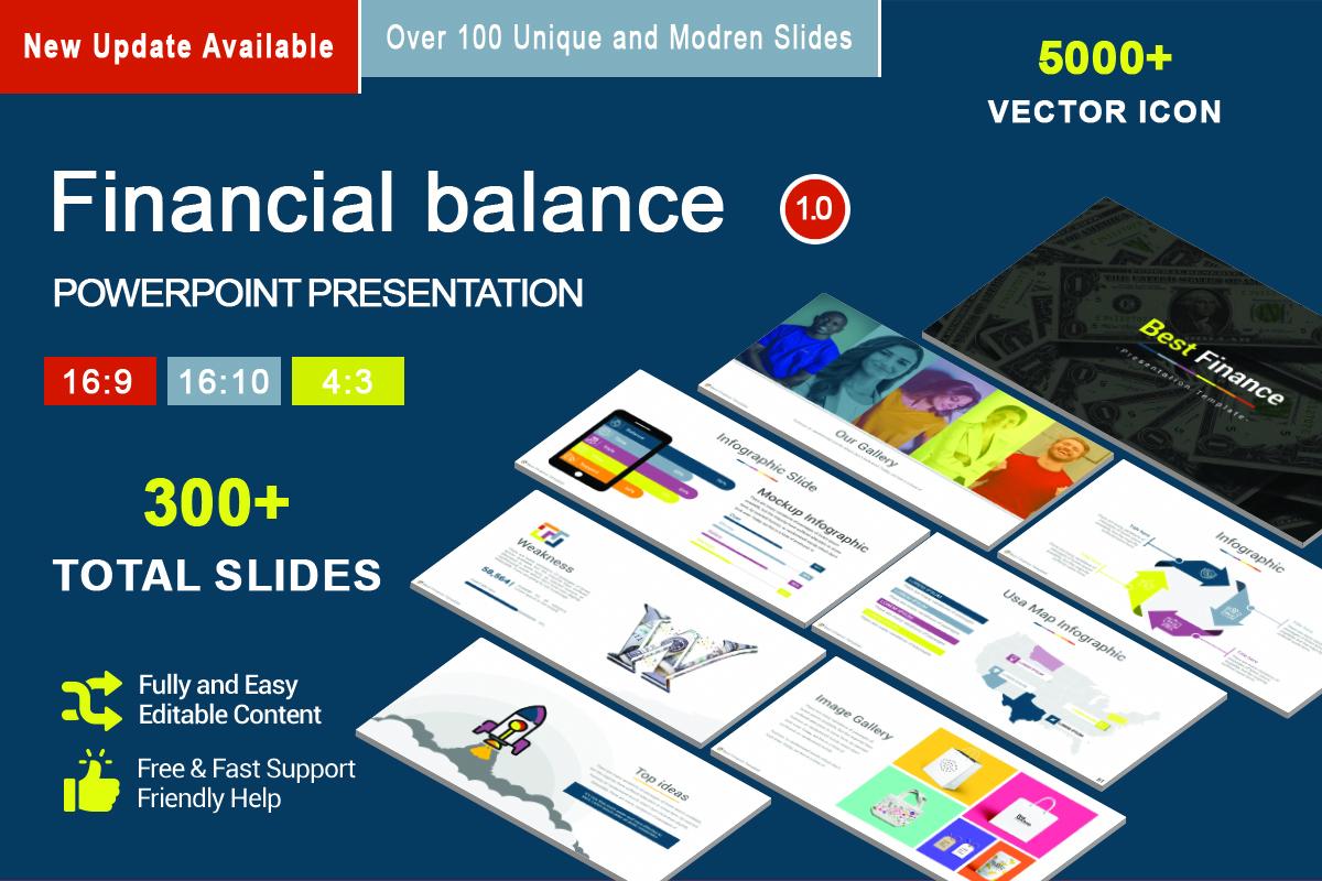 Financial balance PowerPoint Template