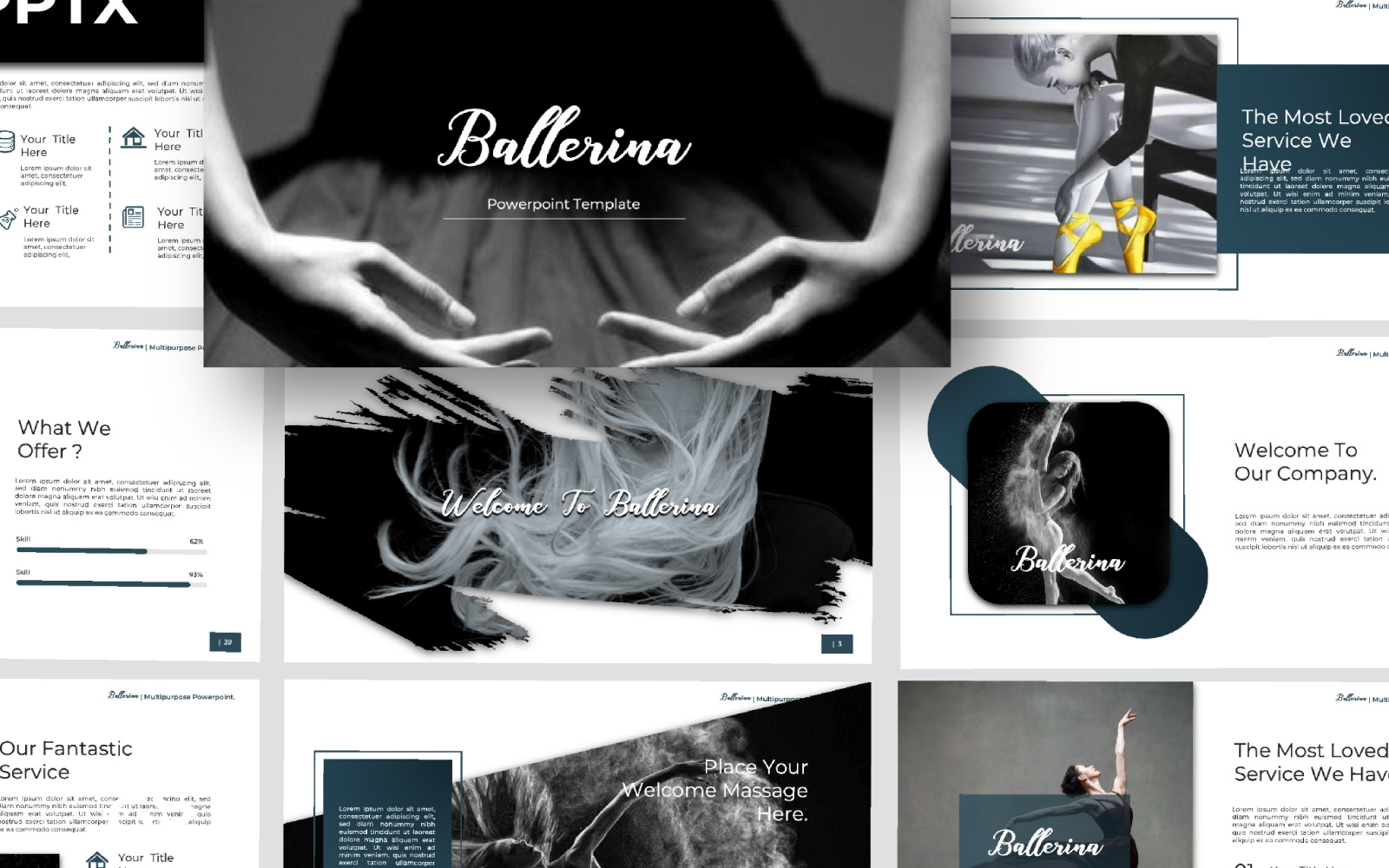 Ballerina Presentation PowerPoint Template