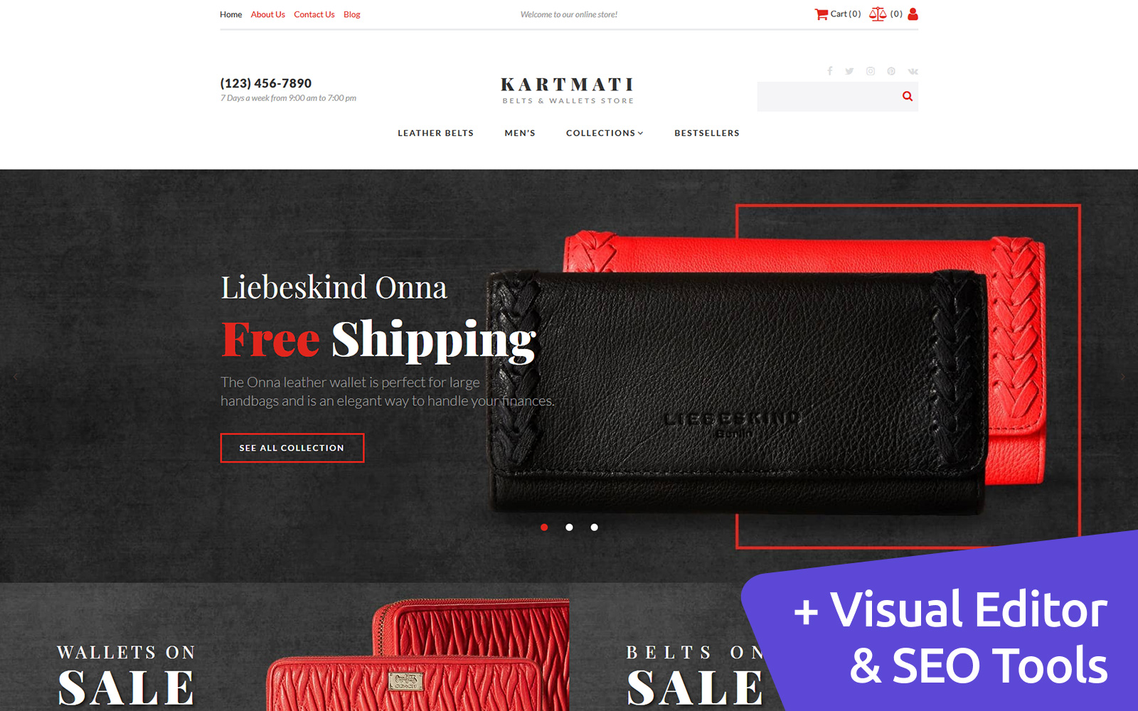 Kartmati - Leather Goods & Accessories MotoCMS Ecommerce Template